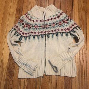💰Fossil lambs wool zip sweater